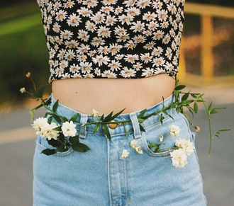 blouse shorts tank top cute new sweet flowered top floral beautiful important swag hipsta