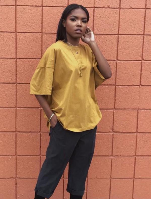 Shirt Yellow T Shirt T Shirt Dress Vintage Style