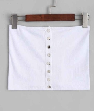 top girly white white crop tops button up crop tops crop off the shoulder off the shoulder top bandeau bandeau top bandeau bra