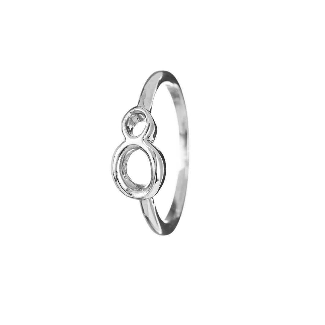 Code Sterling Silver #8 Ring