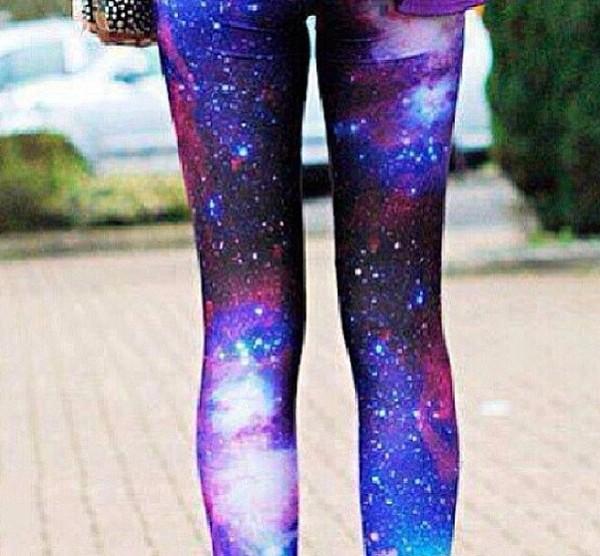 jeans galaxy leggings pretty purple