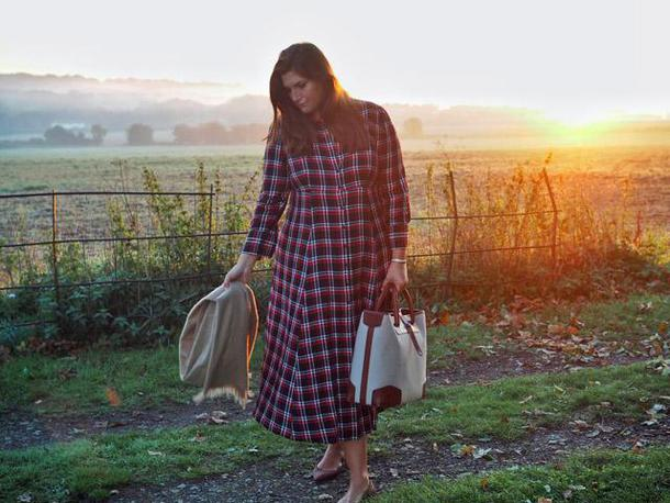 fashion foie gras blogger dress bag scarf