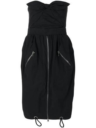 dress women spandex drawstring cotton black