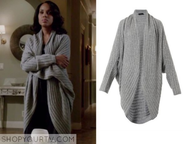 sweater grey sweater olivia pope scandal casual