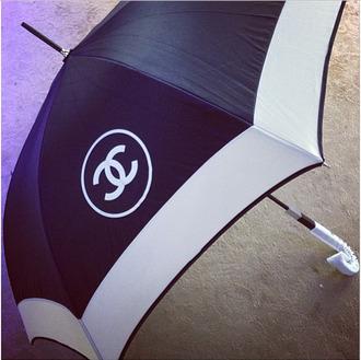 bag umbrella designers chanel chanel logo black umbrella