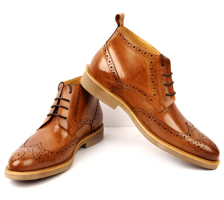 e0f629fe241 shoes size us 8 Picture - More Detailed Picture about GRIMENTIN fashion  Winter Italian brand luxury oxford mens genuine leather boots brown black  men ...