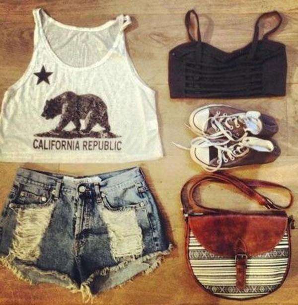 shorts california republic bralette underwear