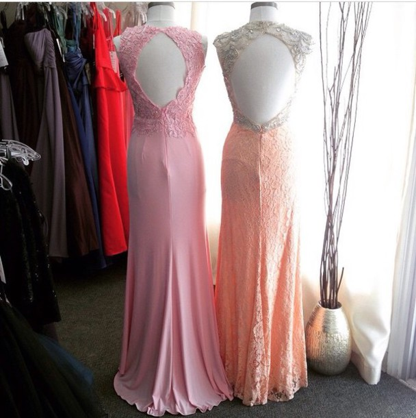 dress prom dress lace dress backless dress