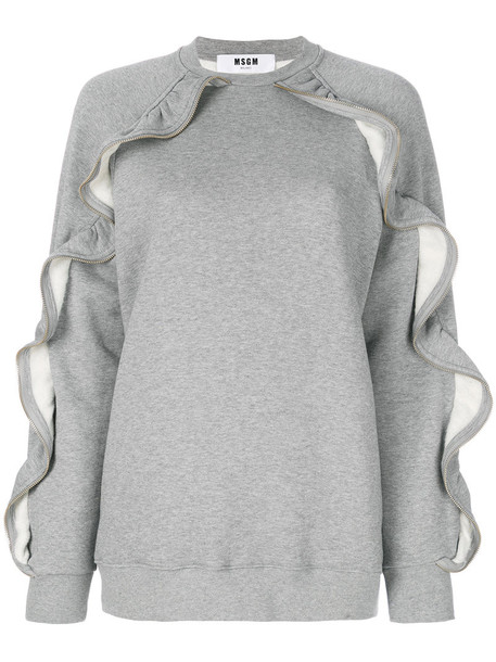 MSGM sweatshirt women cotton grey sweater