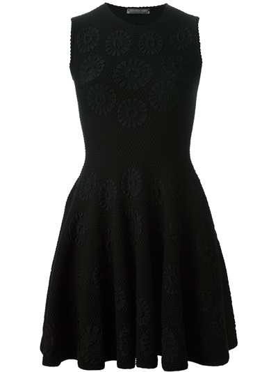 Alexander Mcqueen Embroidered Flower Dress - Luisa Boutique - Farfetch.com