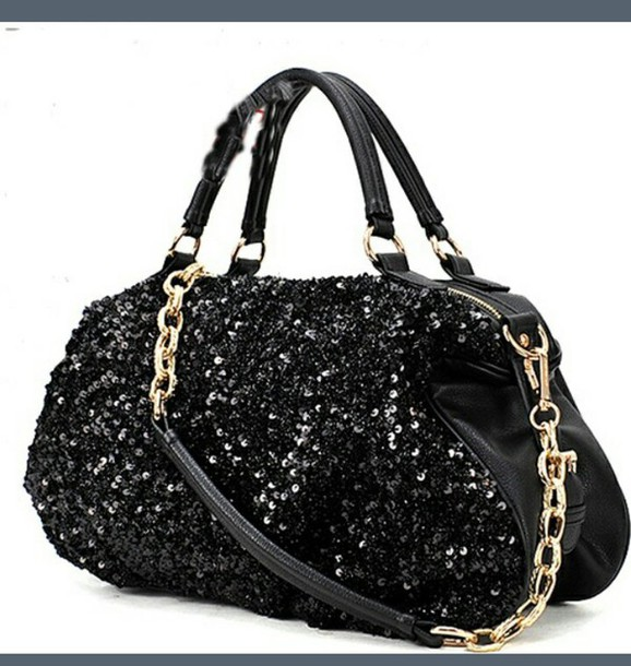 bag big purse sparkle