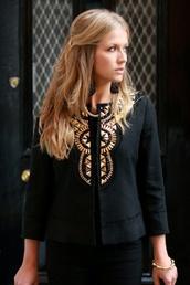 jacket,gold,black,classic,modern,streetstyle,elegant