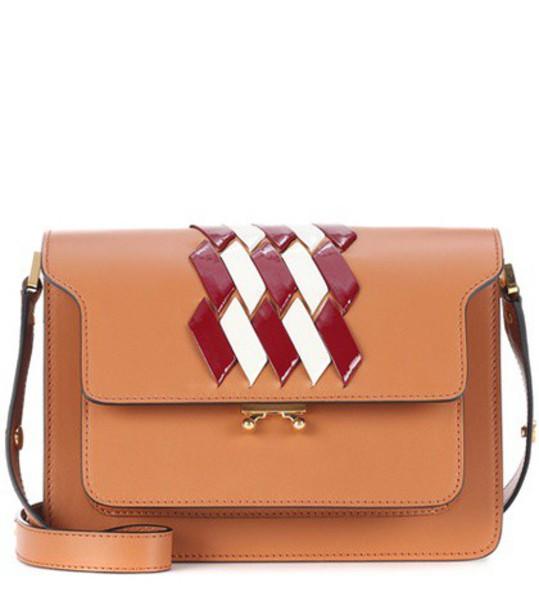 MARNI bag shoulder bag leather brown