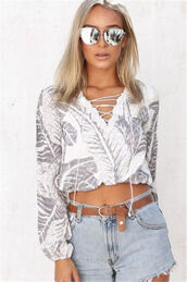 top,white top,white shirt,white blouse,black and white,white and grey,white nd gray,floral,sexy,deep v,plunge v neck,plunge neckline,sexy top,crop,cropped,crop tops,white crop tops,lace,lace up,hollow out,embroidered,leaves,floral top,floral print top,jeans top,strappy,casual blouse,casual top,long sleeves,long sleeve top,preppy,pretty,hot,cool,sexy blouse,jeans shorts top,fashion,fashion top,fashionista,fashion inspo,fashion shirt,women shirt,style,stylish,style scrpabook,lookbook,tumblr,tumblr outfit,musthave,streetwear,streetstyle,urban,pinterest,moraki,sexy blouses
