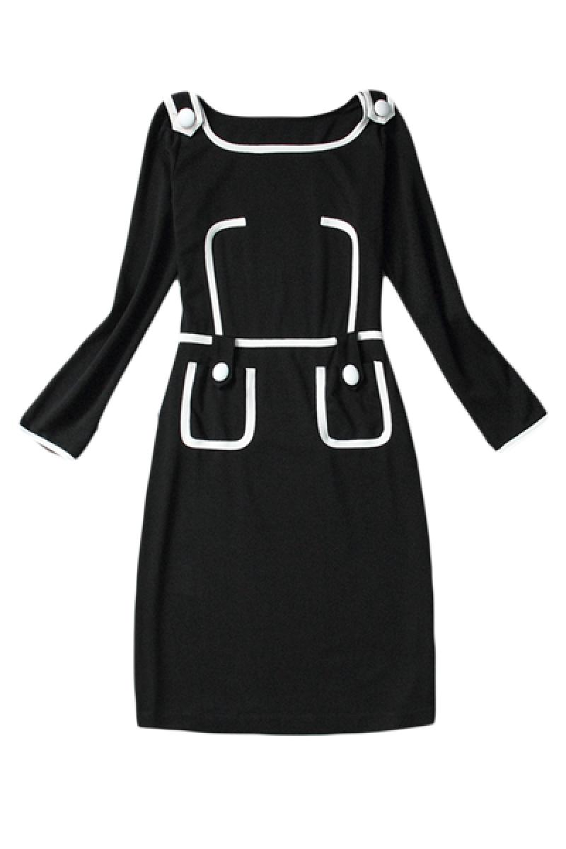 Long Sleeve Slim Elegant Petit Vogue On-piece Dress Knitted Dress,Cheap in Wendybox.com