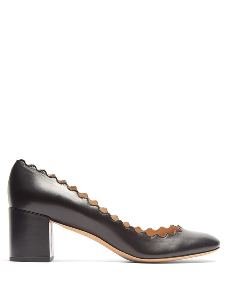 Chloe pumps leather black shoes
