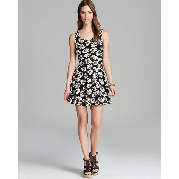 Aqua Dress - Sleeveless Daisy Skater - Polyvore