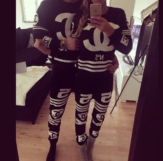 chanel couple sweaters