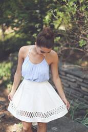 skirt,linen,eyelet,eyelet lace,summer,light,spring,wedding,bridal,bride,bridesmaid,preppy,cocktail,detail,lace detail,crochet,crochet detail,brunch,white,ivory,kiss