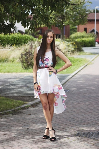 dress spring floral high low hi summer