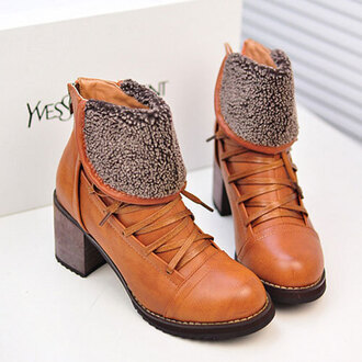 shoes boot lace up zip