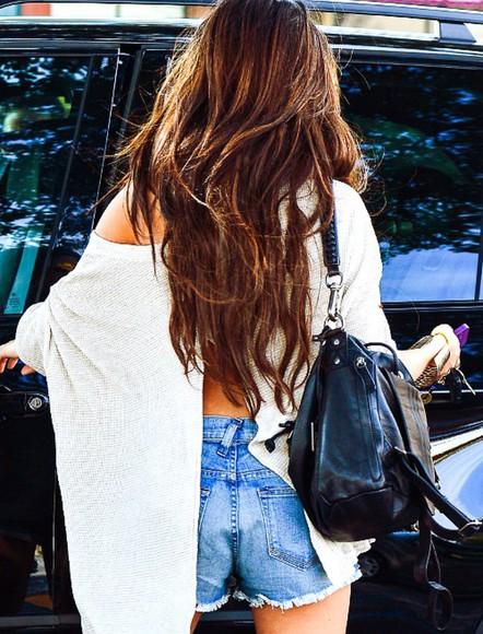 sweater slit skirt black style slit oversized sweater white cute dress cute shorts denim shorts denim purse handbag