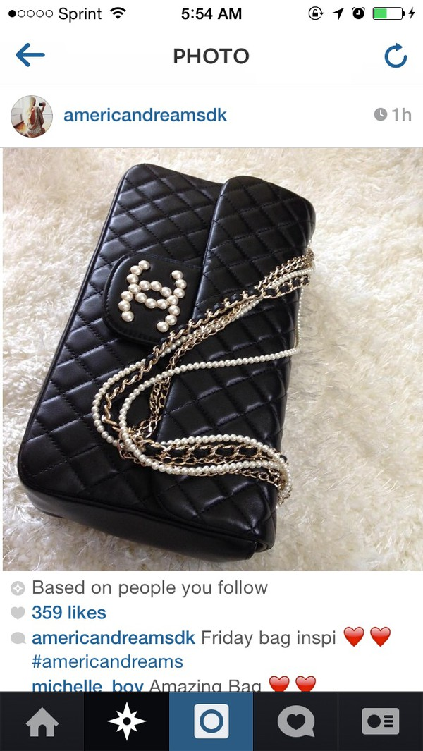 bag chanel bag black gorgeous sleek stylish