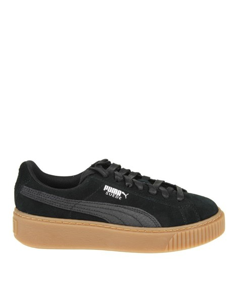 puma sneakers. animal sneakers suede black shoes