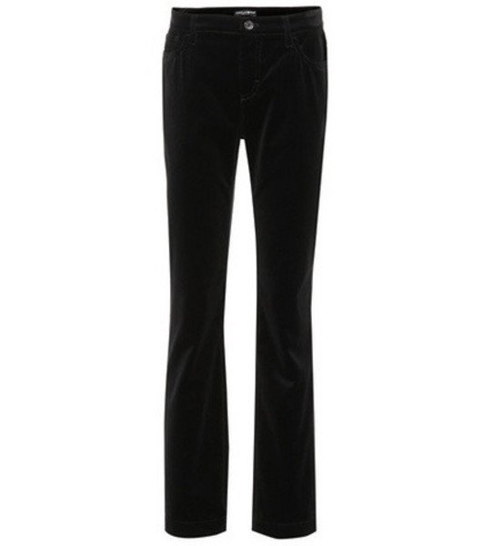 Dolce & Gabbana Flared cotton pants in black