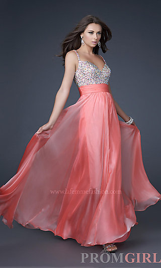 Prom dresses, celebrity dresses, sexy evening gowns at promgirl: gorgeous la femme prom dress