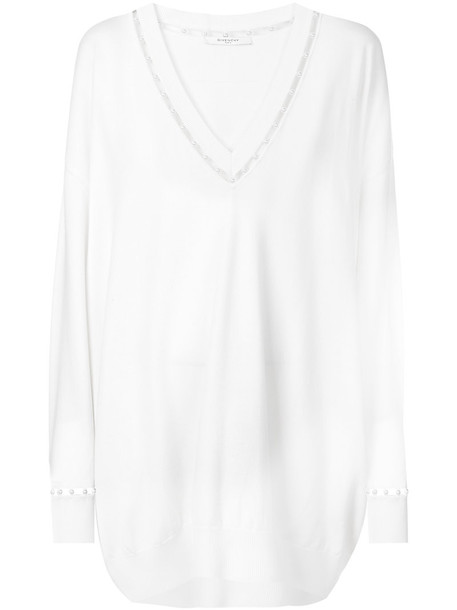 Givenchy jumper women pearl white wool sweater