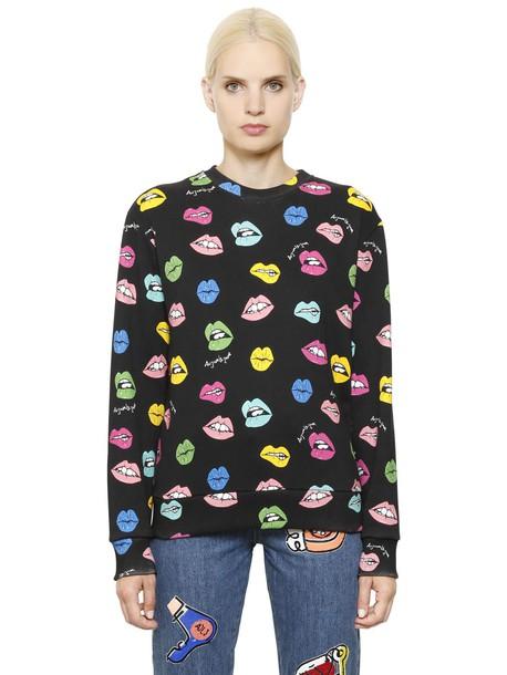 sweatshirt cotton multicolor black sweater