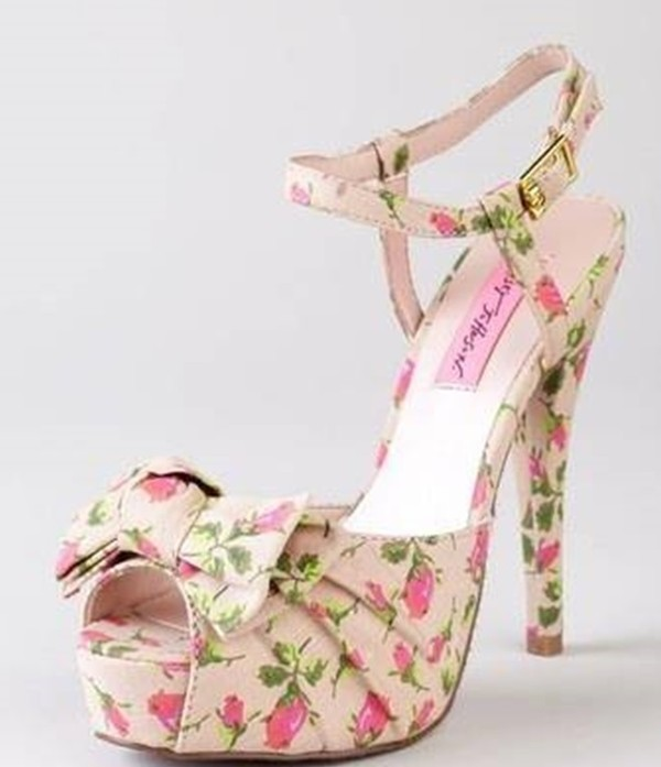 shoes high heels flowers