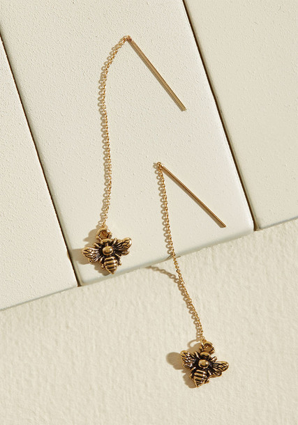 Modcloth bee earrings jewels