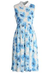 dress,chicwish,chicwish.com,icy blue flowers dress,chiffon dress,midi dress,chiffon midi dress,blue dress,floral dress,blue floral dress