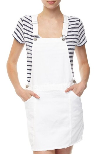 dress white dress cotton on overalls