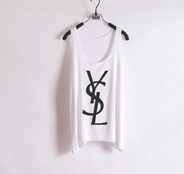 ysl yves saint laurent tops t shirts