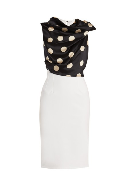 Emilio De La Morena dress draped white black