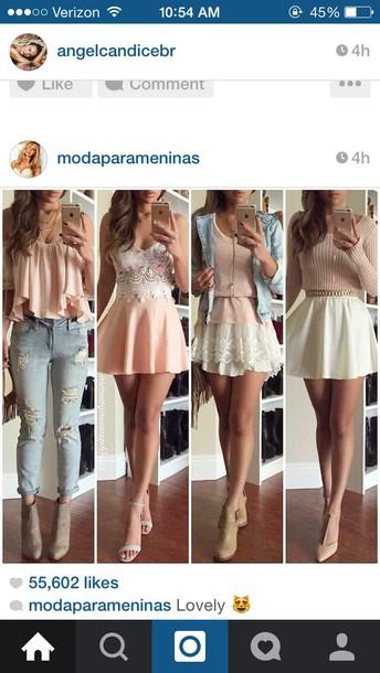dress top pink skirt white jeans flirty crochet high waisted rose pink feminine blouse