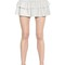 Stretch linen & cotton gauze skirt