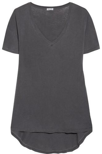 t-shirt shirt vintage cotton charcoal top