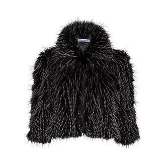 jacket faux fur jacket black