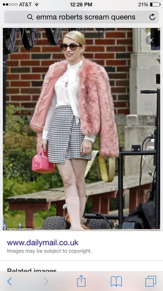 jacket scream queens emma roberts hair accessory hat skirt