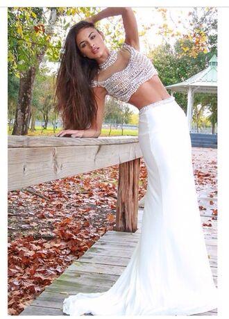 dress sophia miacova prom dress two piece dress set white dress sexy dress style fashion