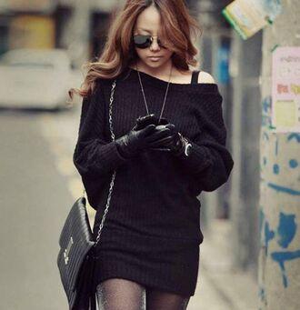 sweater dress black mini dress mini dress swearshit