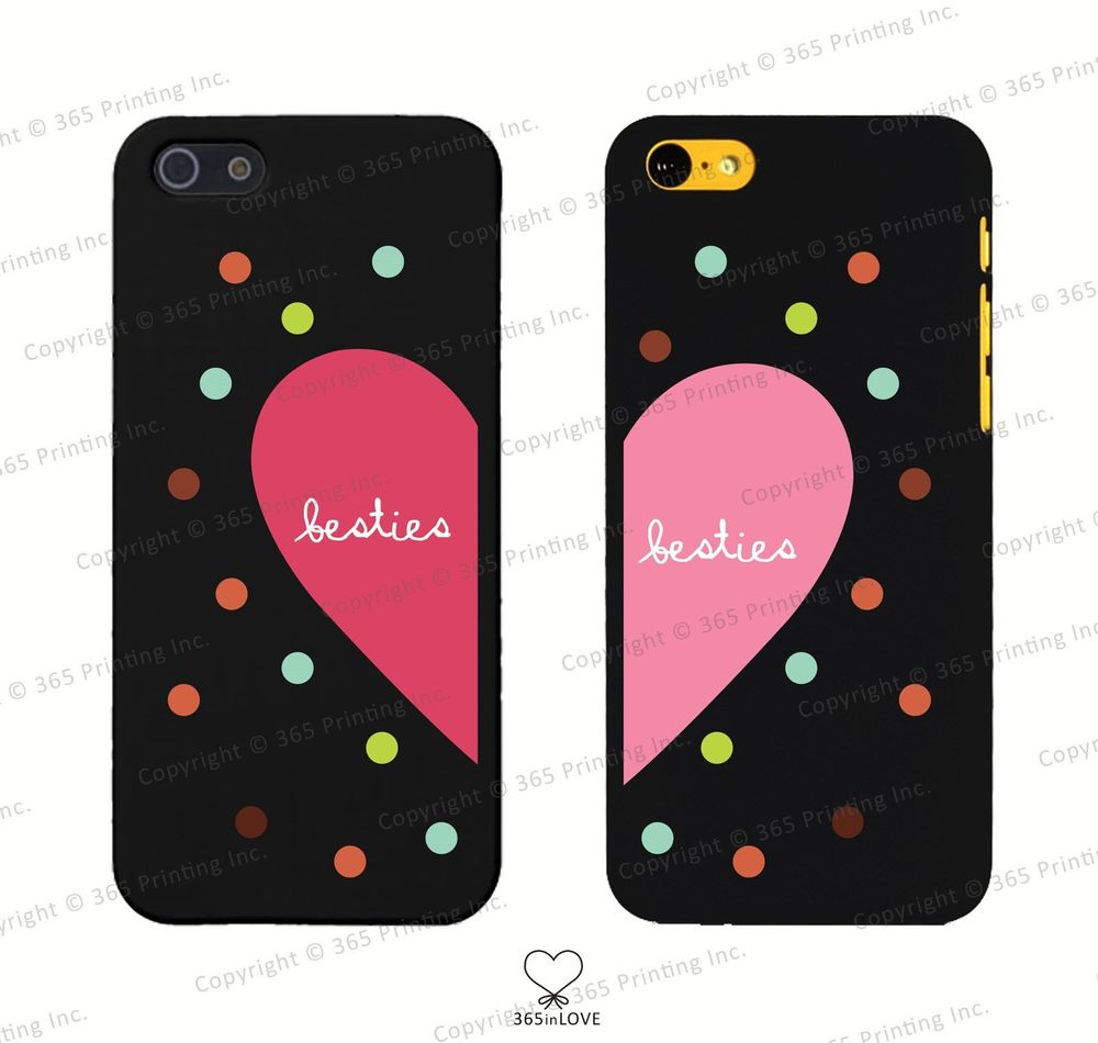Besties Matching Phone Case Set iPhone 4 4S 5 5c Galaxy S3 S4 Covers for BFF | eBay