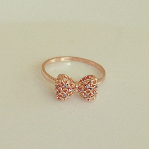 Louun Cute Bow Rose Gold Ring
