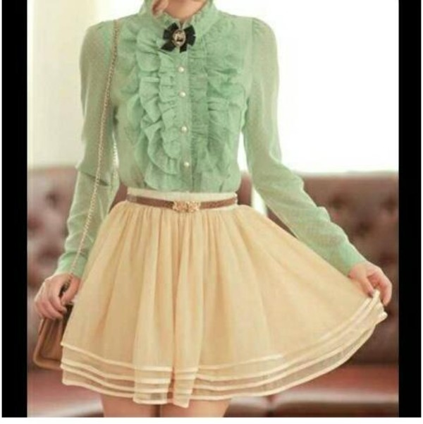 Skirt: blouse, dress, vintage, the whole outfit please ...