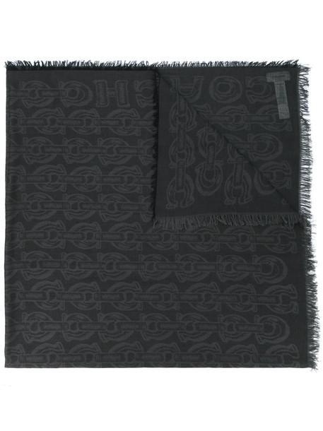 coach women scarf cotton black