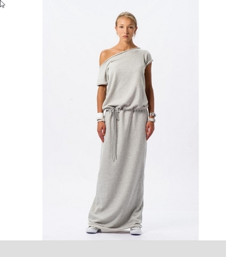 maxi dress sportswear cotton dress.. cotton asymmetrical